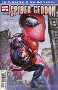 Spider Geddon #1 A Regular Clayton Crain Vf+/nm+ 1St Print Comic