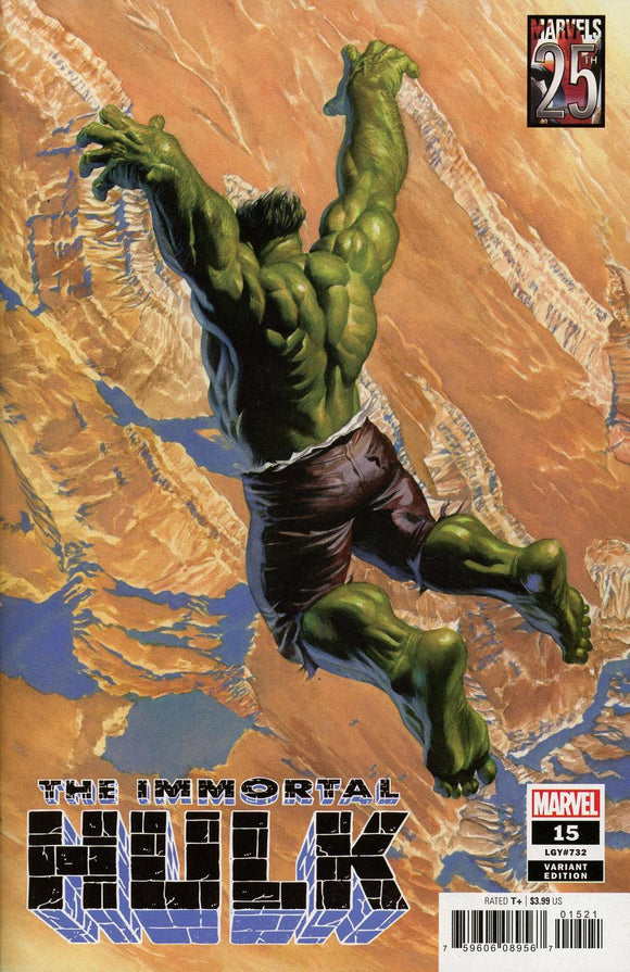 Immortal Hulk #15 B Alex Ross Variant 1St Print Vf+/nm+ Comic