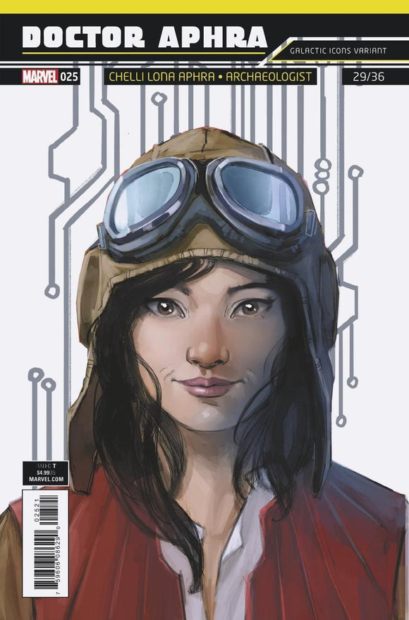 Star Wars Doctor Aphra #25 B Variant Rod Reis Galactic Icon Cover Vf+/nm+ Comic