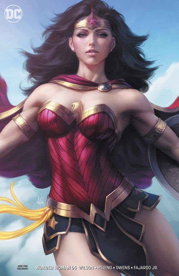 Wonder Woman #65 B Stanley Artgerm Lau Variant Vf+/nm+ Comic