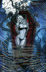 Lady Death Extinction Express #1 C Mike Krome Foil Vf+/nm+ Coffin Comic