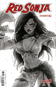 Red Sonja Vol 7 #20 F Babs Tarr Black & White 1:10 Incentive Variant Nm Comic