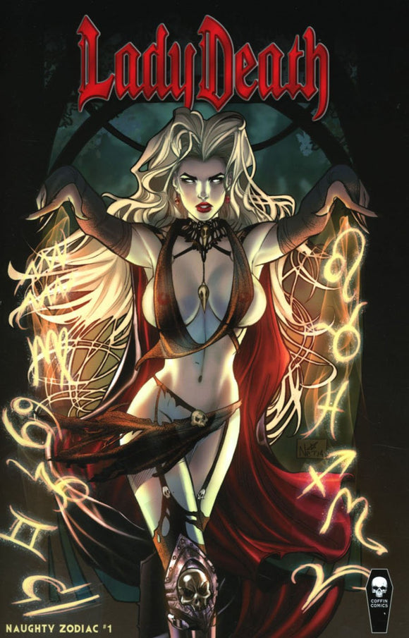 Lady Death Zodiac #1 D Nei Ruffino Naughty Variant Vf+/nm+ Coffin Comic