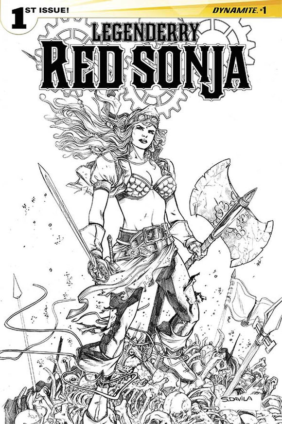 Legenderry Red Sonja #1 I Black & White Sergio Davila Variant Nm/nm+ Comic