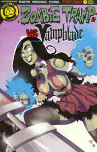 Zombie Tramp vs Vampblade #1 C Young variant VF+/NM+