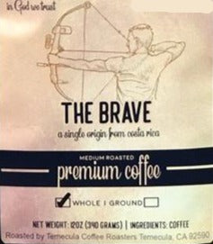 Costa Rica roasted coffee 12oz BRAVE by Earth Works