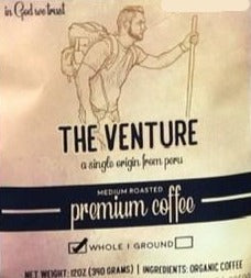 Peru Organic fresh roast coffee 12oz VENTURE by Earth Works