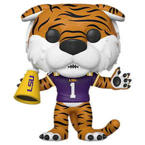 Pop! College Football LSU's Mike The Tiger (Home Purple Jersey)