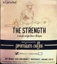 Ethiopia Harrar Organic coffee 12oz STRENGTH by Earth Works