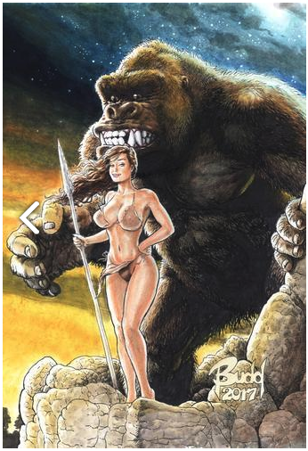 Cavewoman Revenge #1 D Budd Root Variant W/ C.o.a Ltd To 450 Vf+/nm+ Comic