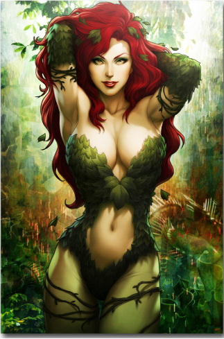 Poison Ivy Silk Fabric Poster Print