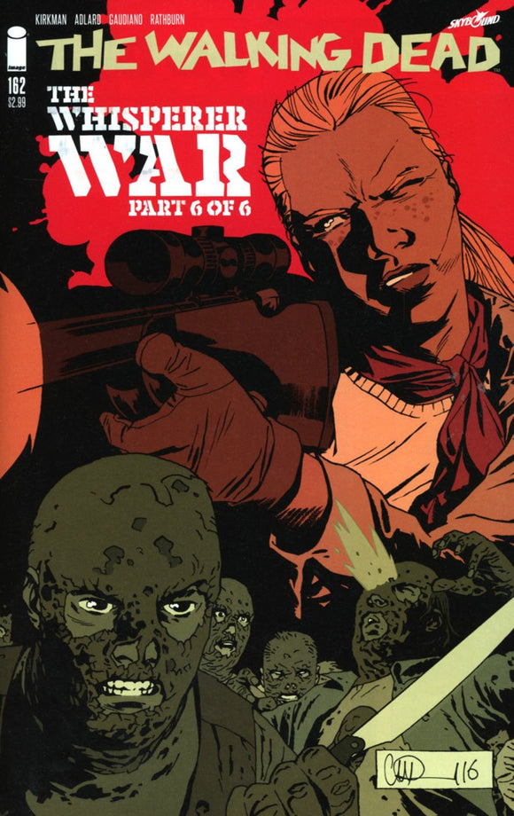 Walking Dead #162 A Whisperer War Part 6 Kirkman Adlard Stewart Vf+/nm+ 1St Print Comic