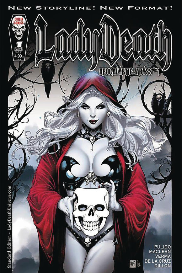 Lady Death Apocalyptic Abyss #1 A Mike Krome Vf+/nm+ Coffin Comic
