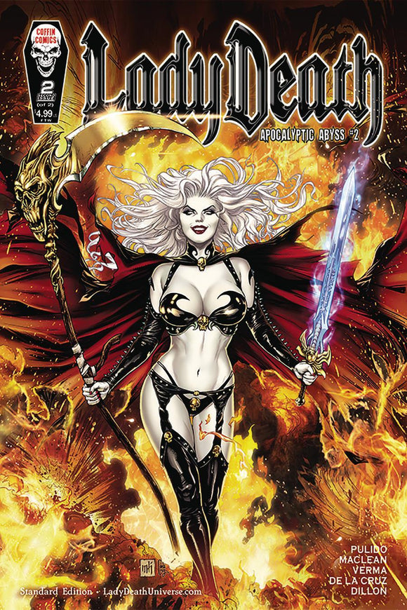 Lady Death Apocalyptic Abyss #2 A Mike Krome Vf+/nm+ Coffin Comic