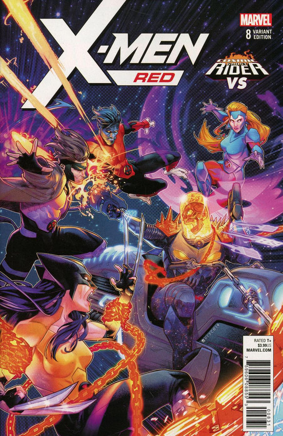 X-Men Red #8 B Campbell Ghost Rider Variant VF+/NM+ 1st print
