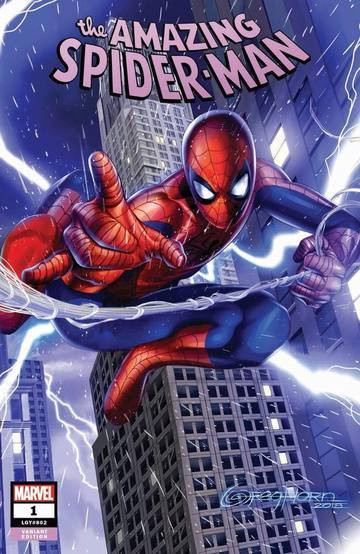 Amazing Spider-Man #1 Greg Horn Variant Vf+/nm+ Comic