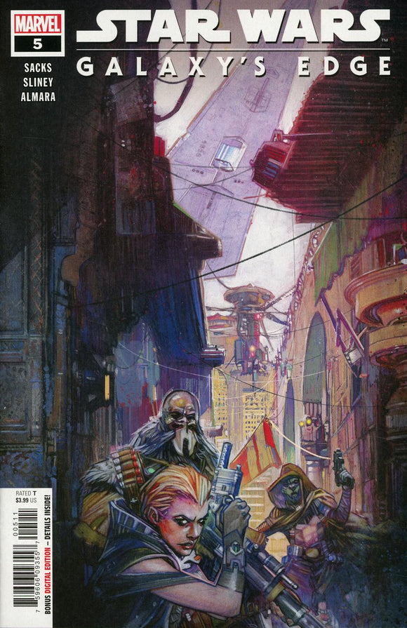 STAR WARS GALAXY'S EDGE #5 A Tommy Lee Edwards VF+/NM+