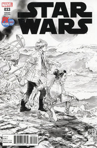 Star Wars #33 D Sdcc 2017 Exclusive Mike Mayhew B&w Variant Vf+/nm+ Comic