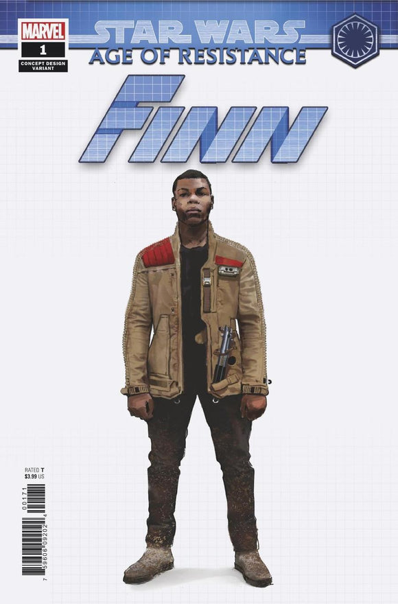 Star Wars Age of Resistance Finn #1 D Artist Concept Variant NM