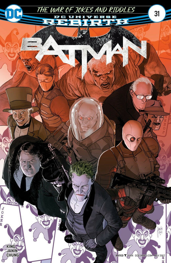 BATMAN #31 A Regular Mikel Janin Cover VF+/NM+
