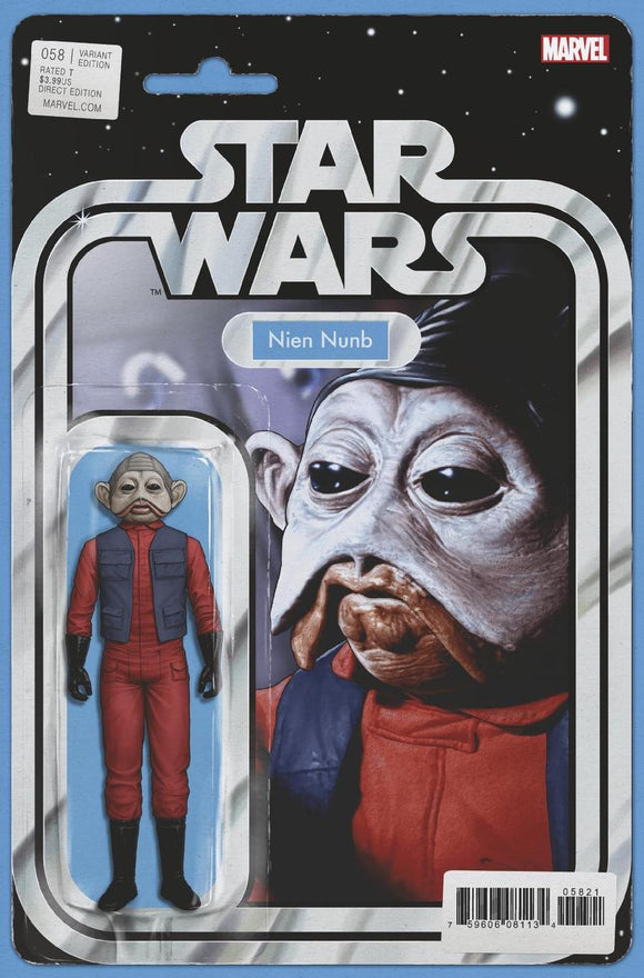 Star Wars #58 B John Tyler Christopher Variant Nien Nunb Vf+/nm+ Comic