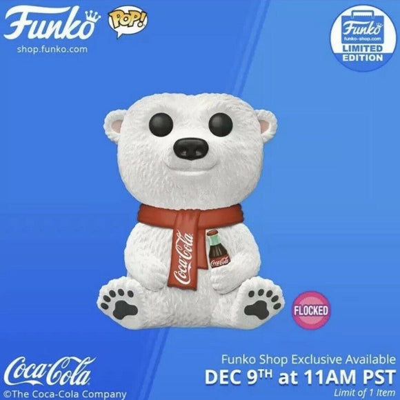 Funko Pop! AD ICONS FLOCKED COCA-COLA BEAR exclusive COKE