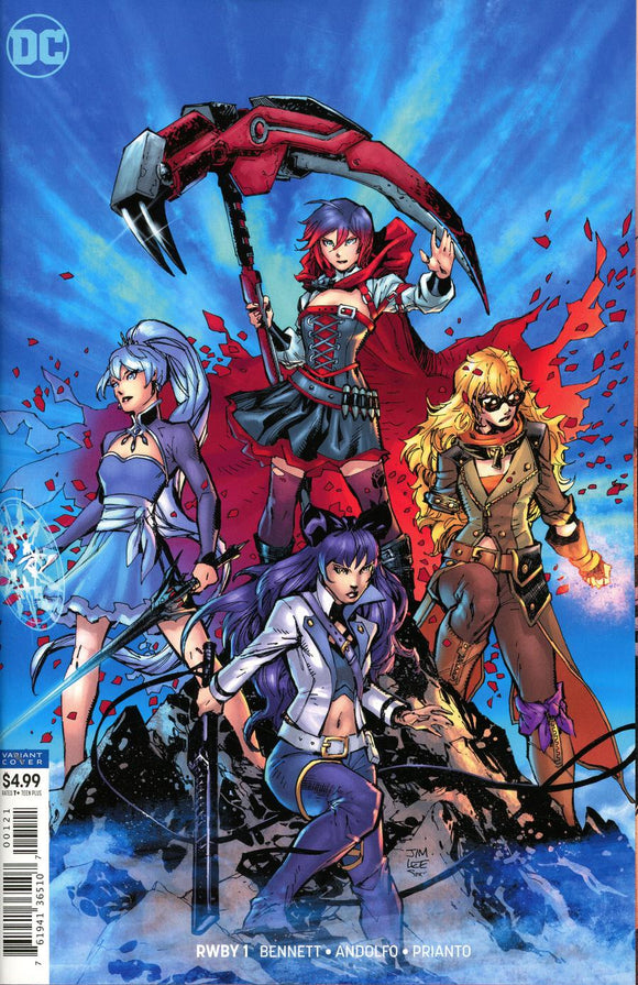 RWBY #1 B Jim Lee card Stock Variant VF+/NM+