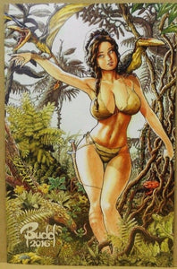 Cavewoman Destination Jungle D Root Virgin Special Ltd To 600 Copies Coa Vf+/nm Comic