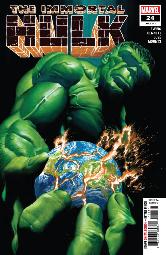 Immortal Hulk #24 A Alex Ross 1st print VF+/NM+