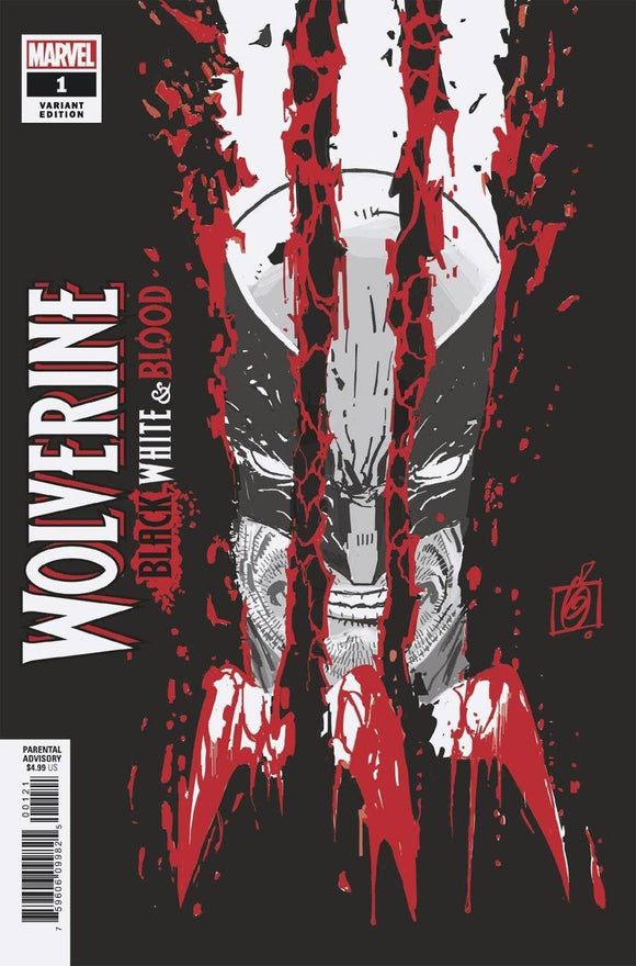 Wolverine Black White & Blood #1 B Ron Garney Variant VF+/NM+
