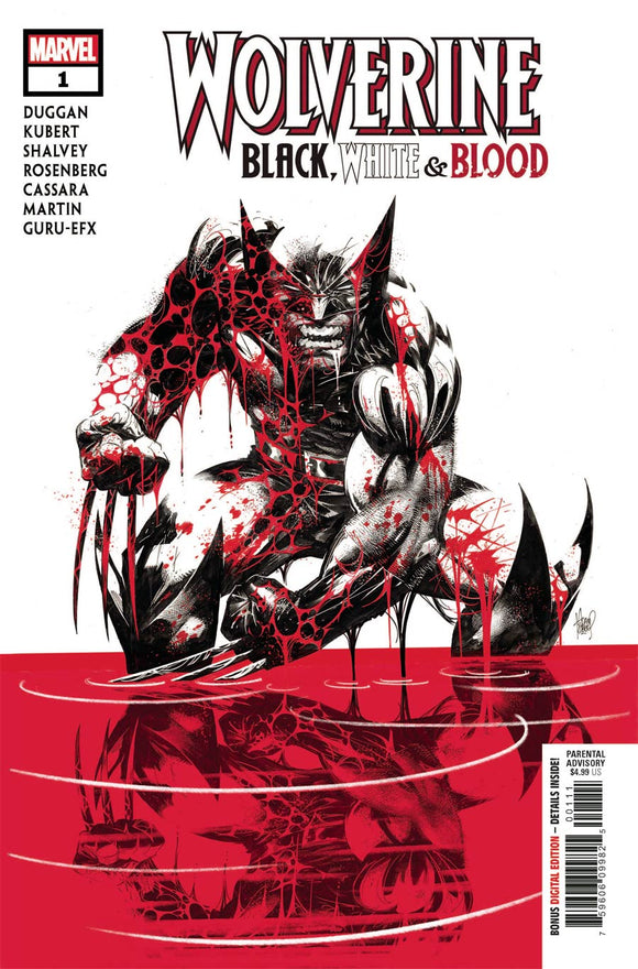Wolverine Black White & Blood #1 A Adam Kubert VF+/NM+
