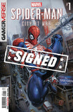 Spider-Man City At War #1 A Clayton Crain Game Nm Signed Comic