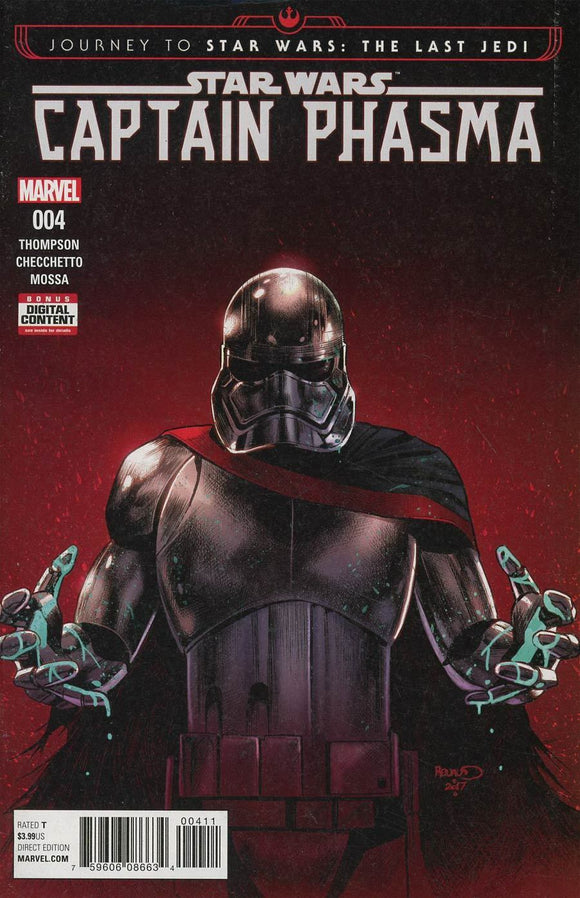 JOURNEY TO STAR WARS LAST JEDI CAPTAIN PHASMA #4 RENAUD NM
