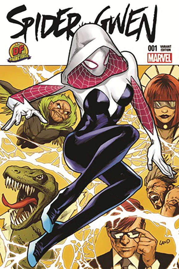 Spider-Gwen #1 W Land DF exclusive variant VF+/NM+ ltd
