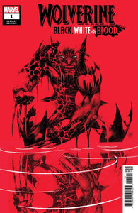 Wolverine Black White & Blood #1 D 1:50 Incentive Kubert Variant VF+/NM+