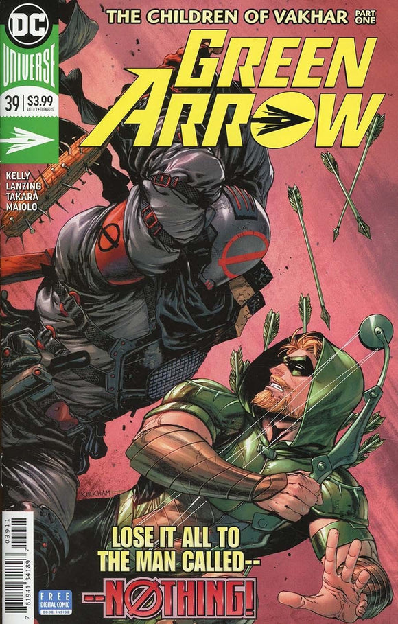 GREEN ARROW #39 A Tyler Kirkham VF+/NM+