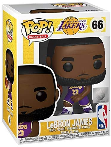 Funko POP! NBA: Lakers - Lebron James #66 Purple Action