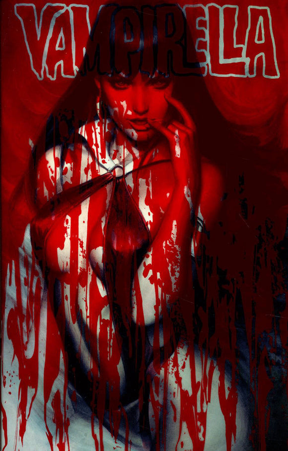 Vampirella #6 A Artgerm Lau Blood Splattered Acetate NM 1st print