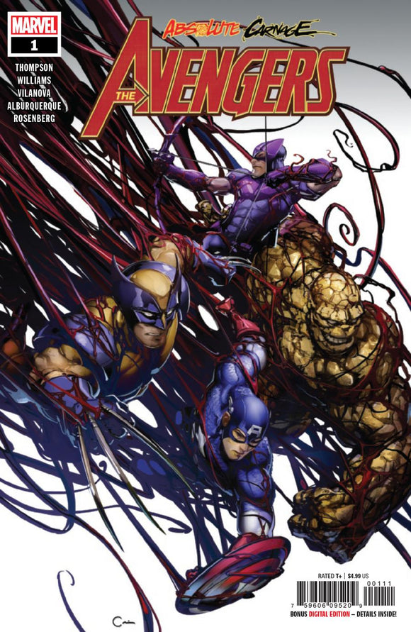 Absolute Carnage Avengers #1 A Clayton Crain VF+/NM+