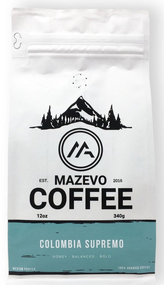 Colombia Supremo 12oz fresh roast coffee - MAZEVO Coffee