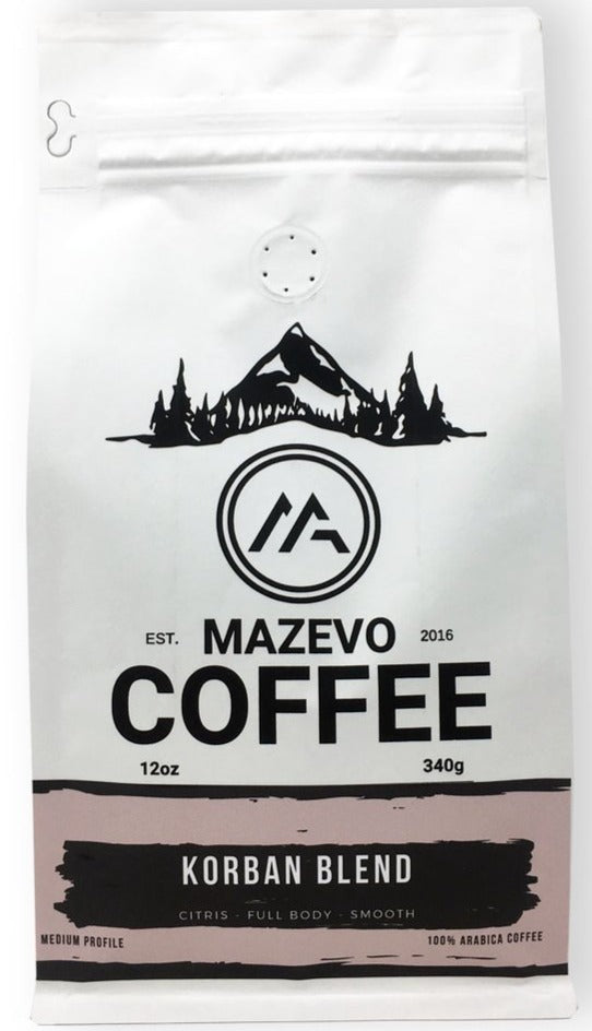 KORBAN Blend 12oz fresh roast coffee - MAZEVO Coffee