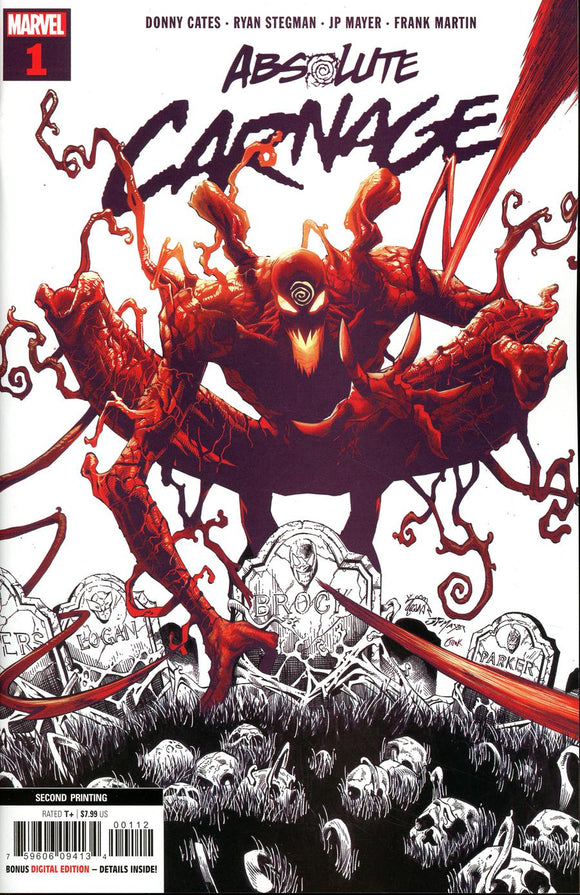 Absolute Carnage #1  Ryan Stegman Variant  VF+/NM+ 2nd print