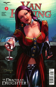 Van Helsing Vs Dracula's Daughter #3 C Santacruz Variant VF+/NM+