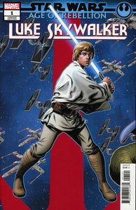 Star Wars AOR Luke Skywalker #1 B McKone Puzzle Variant NM