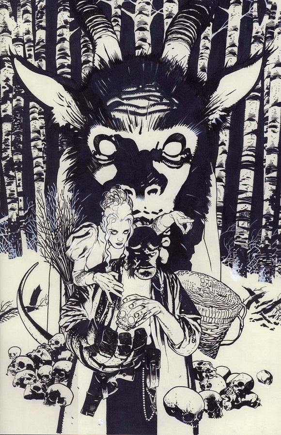 HELLBOY KRAMPUSNACHT #1 C VIRGIN SKETCH VARIANT NM