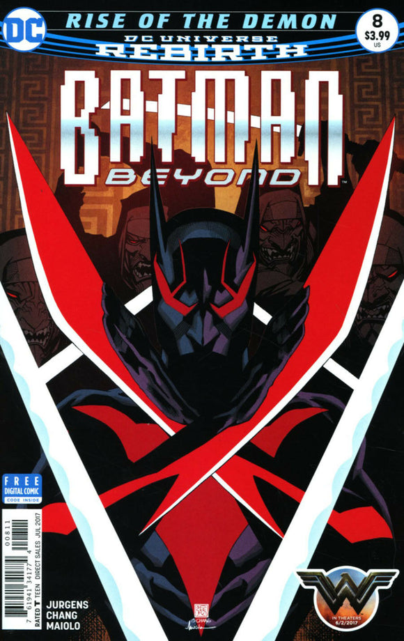 Batman Beyond #8 A Regular Bernard Chang Cover VF+/NM+