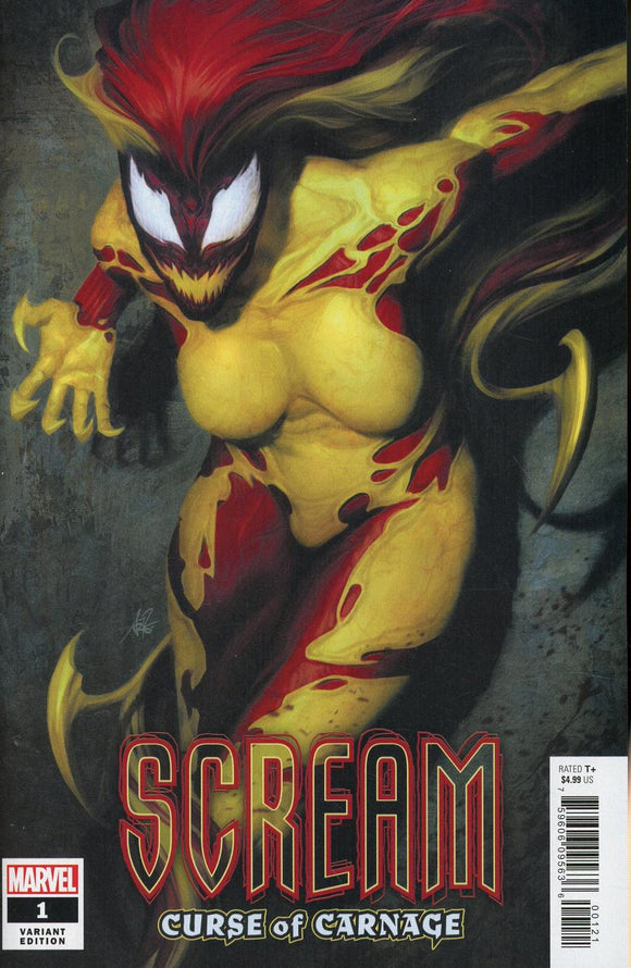 SCREAM Curse of Carnage #1 B Artgerm Lau Variant VF+/NM+ 1st print