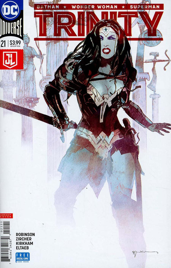 Trinity #21 B Bill Sienkiewicz Variant Vf+/nm+ Wonder Woman Comic