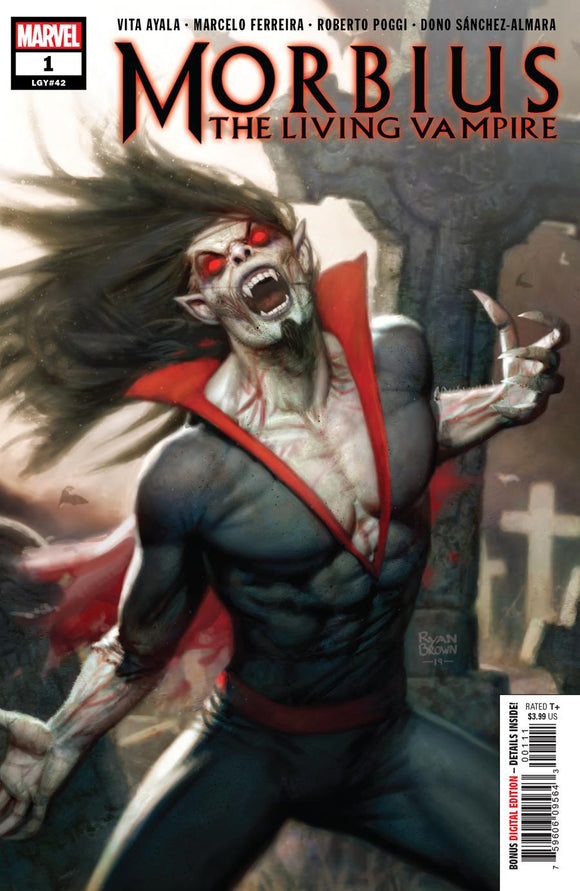 Morbius #1 A Ryan Brown VF+/NM+ 1st print