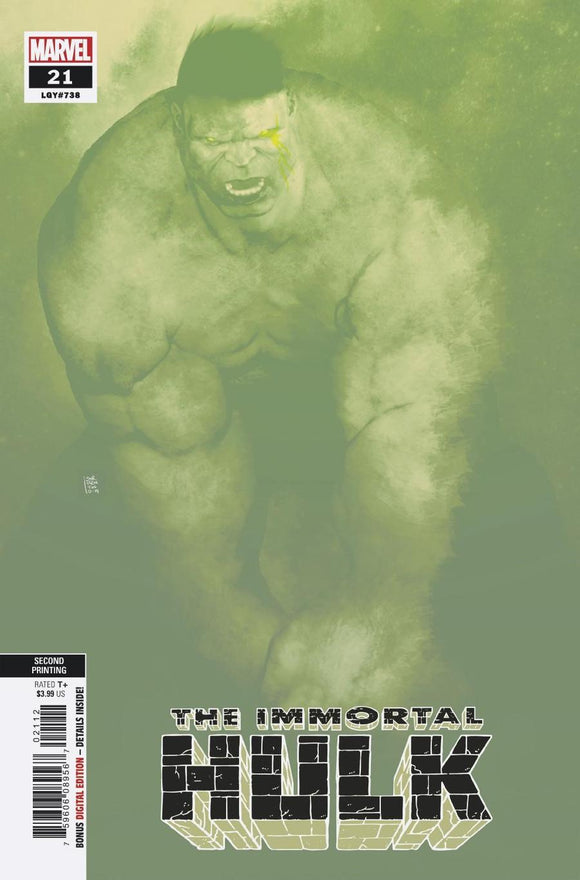 Immortal Hulk #21 B Andrea Sorrentino Variant VF+/NM+ 2nd print